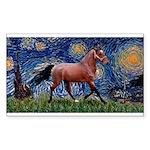 Starry Night Quarterhorse Rectangle Sticker