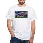 Starry Night Quarterhorse White T-Shirt