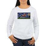 Starry Night Quarterhorse Women's Long Sleeve T-Sh