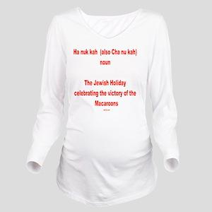 Hanukkah Definition  Long Sleeve Maternity T-Shirt