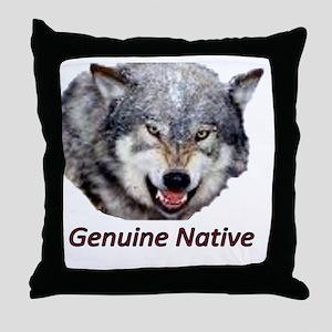 wolfclean huge6genuine Throw Pillow