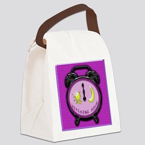 witching hour clock Canvas Lunch Bag