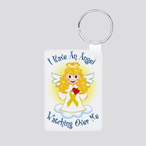 Angel-Watching-Over-Me-Gol Aluminum Photo Keychain