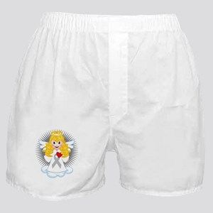 Angel-Watching-Over-Me-Grey-Ribbon-bl Boxer Shorts