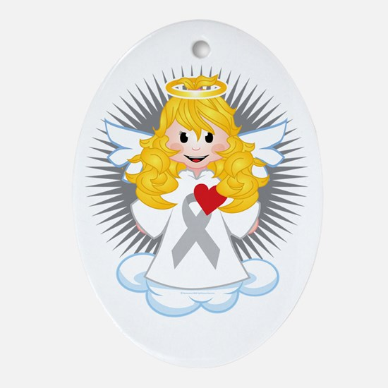 Angel-Watching-Over-Me-Grey-Ribbon-b Oval Ornament