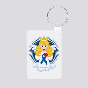 Angel-Watching-Over-Me-Gre Aluminum Photo Keychain