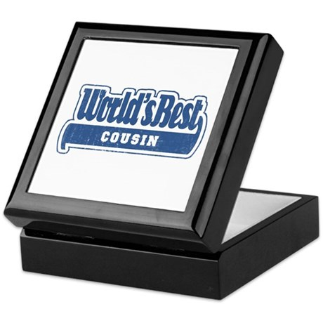 """World's Best Cousin"" [Blue] Keepsake Box"