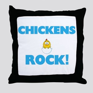 Chickens rock! Throw Pillow