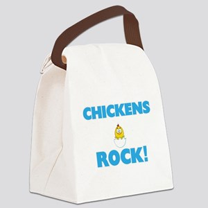 Chickens rock! Canvas Lunch Bag