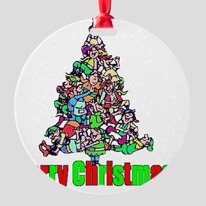 Elf Tree Round Ornament