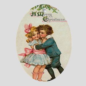 kiss Oval Ornament