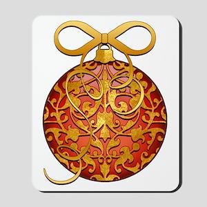 GoldLeafSOrnBowSmTR Mousepad