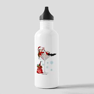 santa girl martini bro Stainless Water Bottle 1.0L