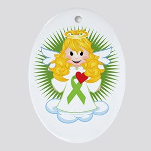 Angel-Watching-Over-Me-Lime-Green-Ri Oval Ornament