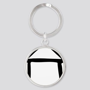 house_drawn Round Keychain