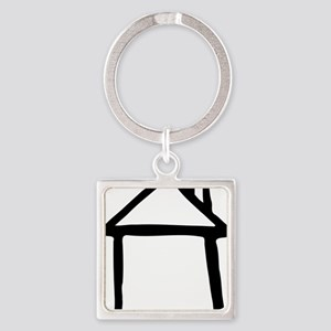 house_drawn Square Keychain