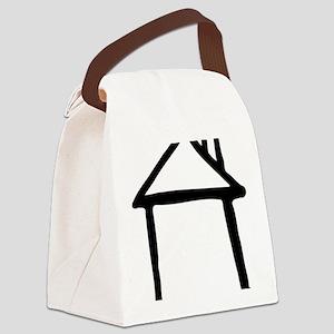 house_drawn Canvas Lunch Bag