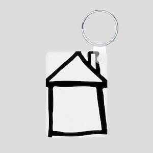 house_drawn Aluminum Photo Keychain