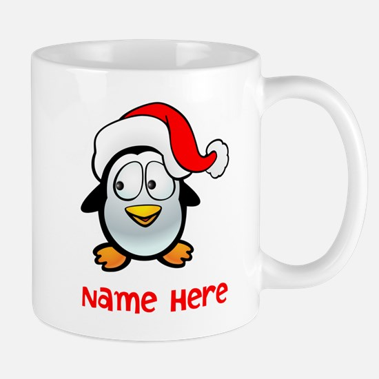 Penguin Santa Mugs