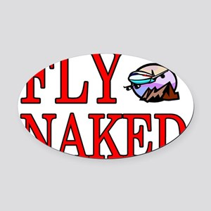 fly naked Oval Car Magnet