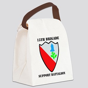 15 SUPPORT BATTALION WITH TEXT Canvas Lunch Bag