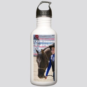 Girl showing her 4-H b Stainless Water Bottle 1.0L