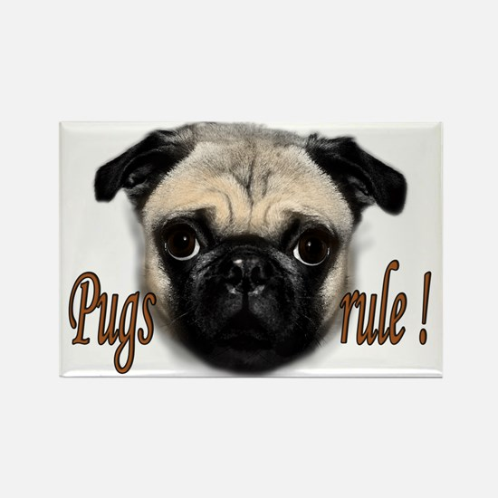 pugs rule Rectangle Magnet