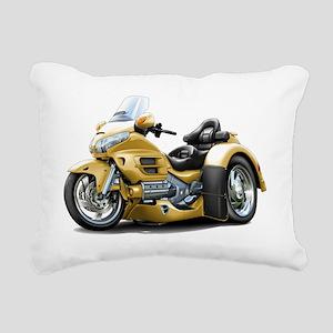 Goldwing GL1800 Gold Tri Rectangular Canvas Pillow