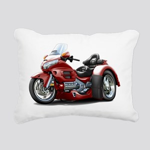 Goldwing GL1800 Maroon T Rectangular Canvas Pillow