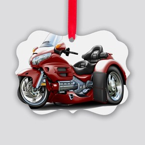 Goldwing GL1800 Maroon Trike Picture Ornament