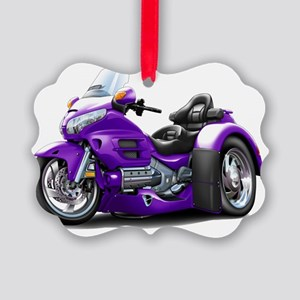 Goldwing GL1800 Purple Trike Picture Ornament