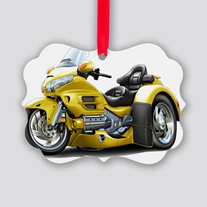 Goldwing GL1800 Yellow Trike Picture Ornament