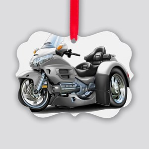 Goldwing GL1800 Silver Trike Picture Ornament