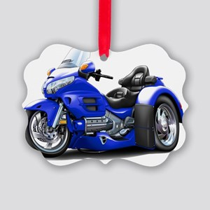 Goldwing GL1800 Blue Trike Picture Ornament