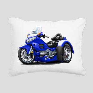 Goldwing GL1800 Blue Tri Rectangular Canvas Pillow