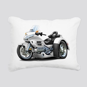 Goldwing GL1800 White Tr Rectangular Canvas Pillow