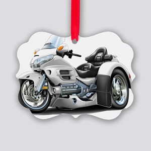 Goldwing GL1800 White Trike Picture Ornament