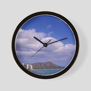 Hawaii, Honolulu, Waikiki Beach with Di Wall Clock