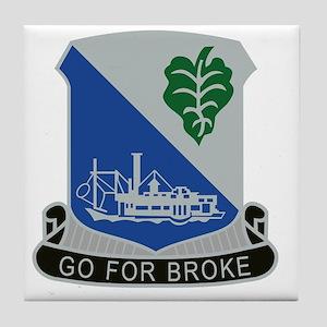 442nd Infantry Regiment Tile Coaster
