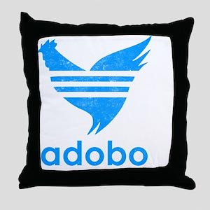 adob-blu Throw Pillow