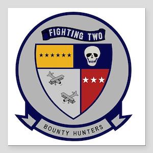 "VF-2 Bounty Hunters Square Car Magnet 3"" x 3"""