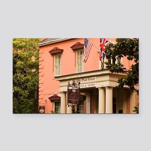 Savannah. The Pink House in t Rectangle Car Magnet