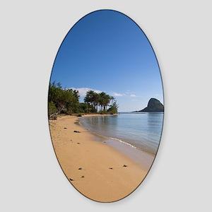 Kualoa Beach Park, Kaneohe Bay, Win Sticker (Oval)
