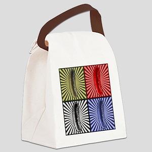PicklePopArt Canvas Lunch Bag