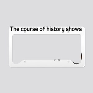 Jefferson-course-of-history-( License Plate Holder