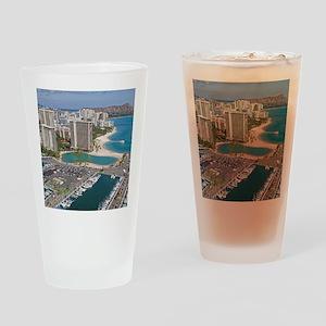 Ala Wai Yacht HarborWaikiki Beach,  Drinking Glass