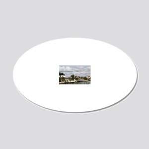 Florida, Marco Island: Marco 20x12 Oval Wall Decal