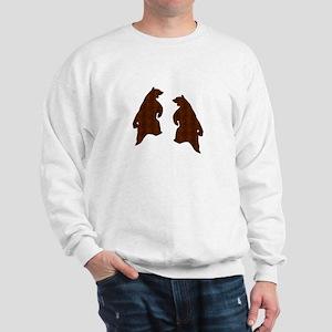 DARK BROWN TILED LOOK DANCING BEARS Sweatshirt