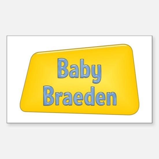 Baby Braeden Rectangle Decal