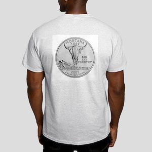 2007 Montana State Quarter Ash Grey T-Shirt